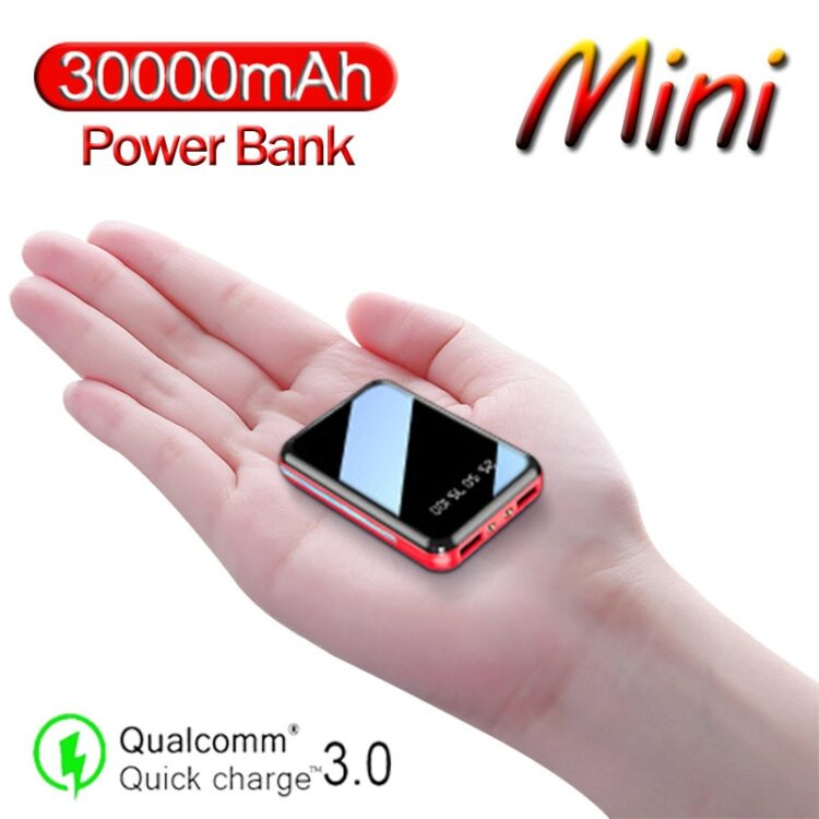 20000mAh Mini USB Power Bank Charging Portable Charger External Battery Pack for Samsung Xiaomi Iphone Outdoor Travel Charger