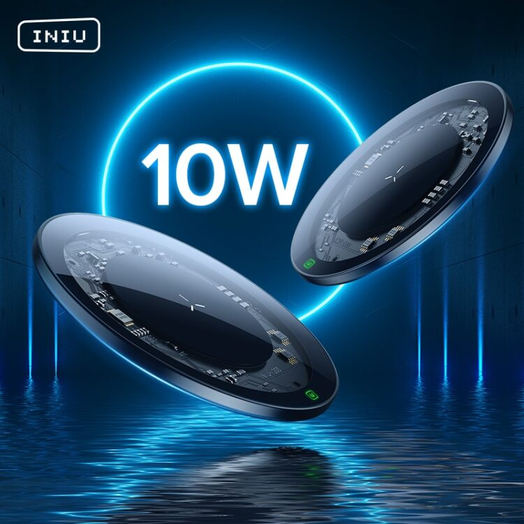 INIU 10W Qi Wireless Charger LED USB Type C Fast Charging Pad For iPhone 12 11 Pro Max Xs Xr X 8 Samsung S21 S20 S10 Note 20 10