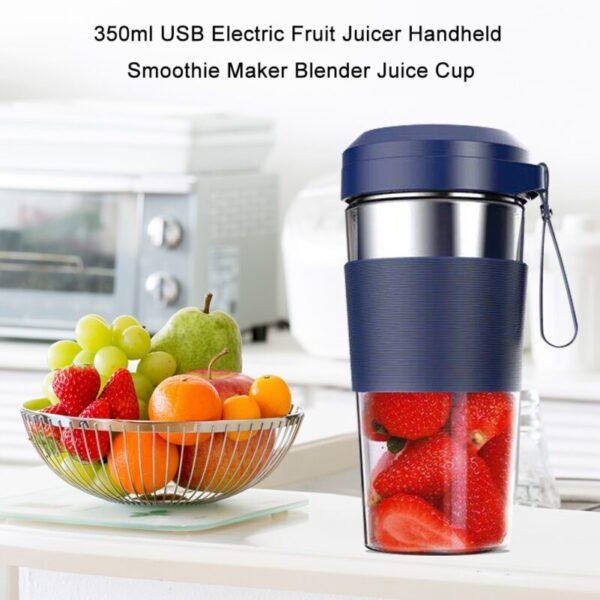 350ml USB Electric Fruit Juicer Handheld Smoothie Maker Blender Stirring Rechargeable Portable Juice Cup Water Bottle