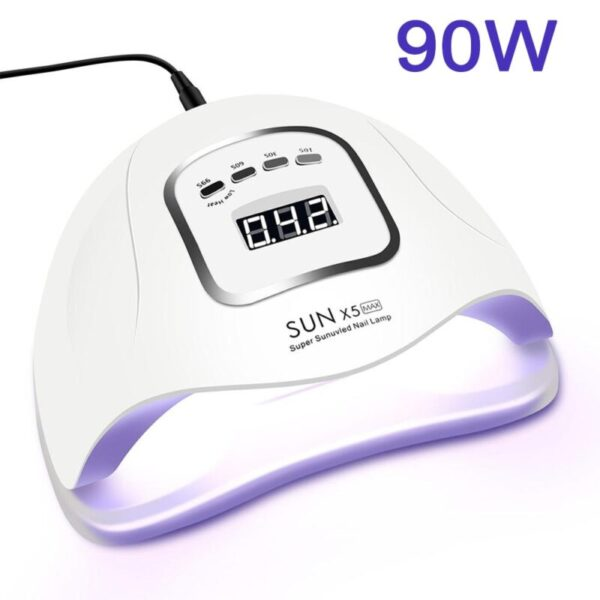 LED Nail Lamp for Manicure 114W/90W/54W Nail Dryer Machine UV Lamp For Curing UV Gel Nail Polish With Motion sensing LCD Display