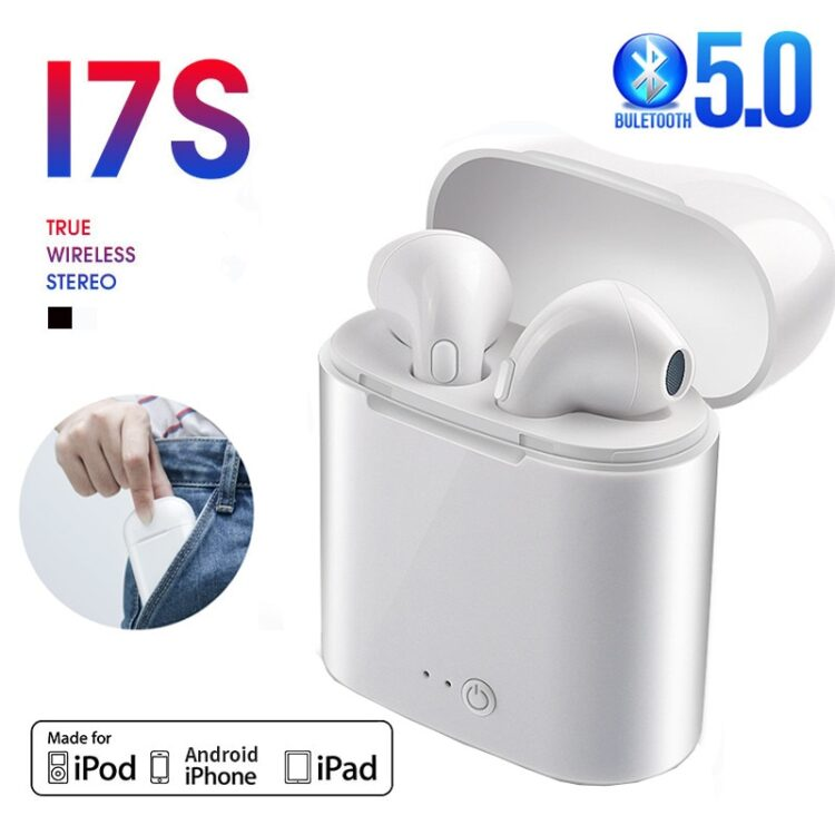 i7s Tws Wireless Headphones Bluetooth Earphones Earbuds Handsfree in ear Sports Headset with Charging Box Mic For iPhone Xiaomi