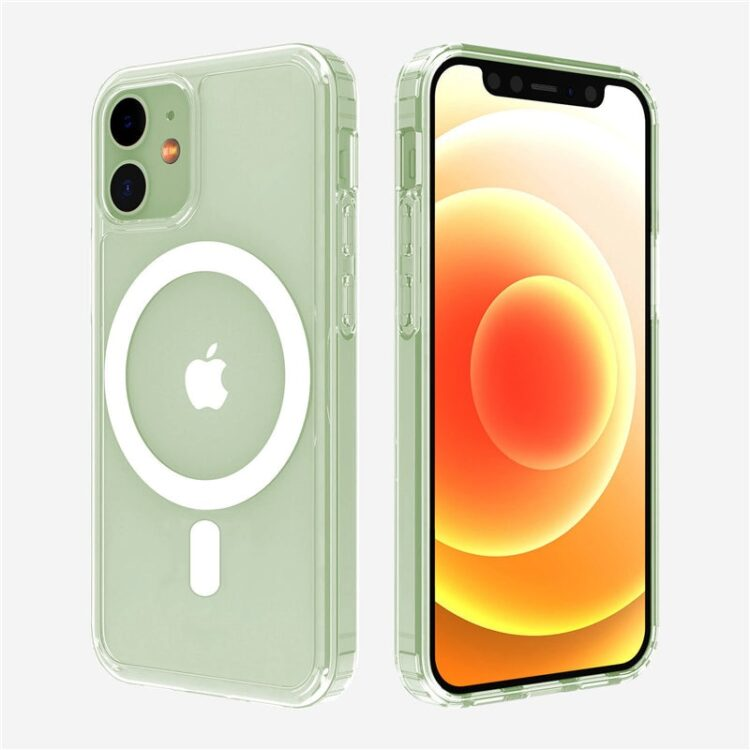 Transparent Shockproof Support Wireless Charging Phone Case For iPhone 12 Mini Pro Max Shockproof Acrylic For iPhone 12 Charger