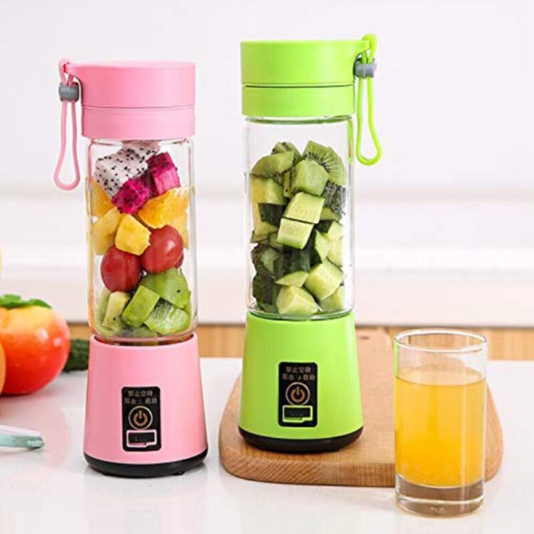 380ml Portable Home USB Rechargeable 4-Blade Electric Fruit Extractor Juice Blender Machine Sports Bottle Juicing Cup