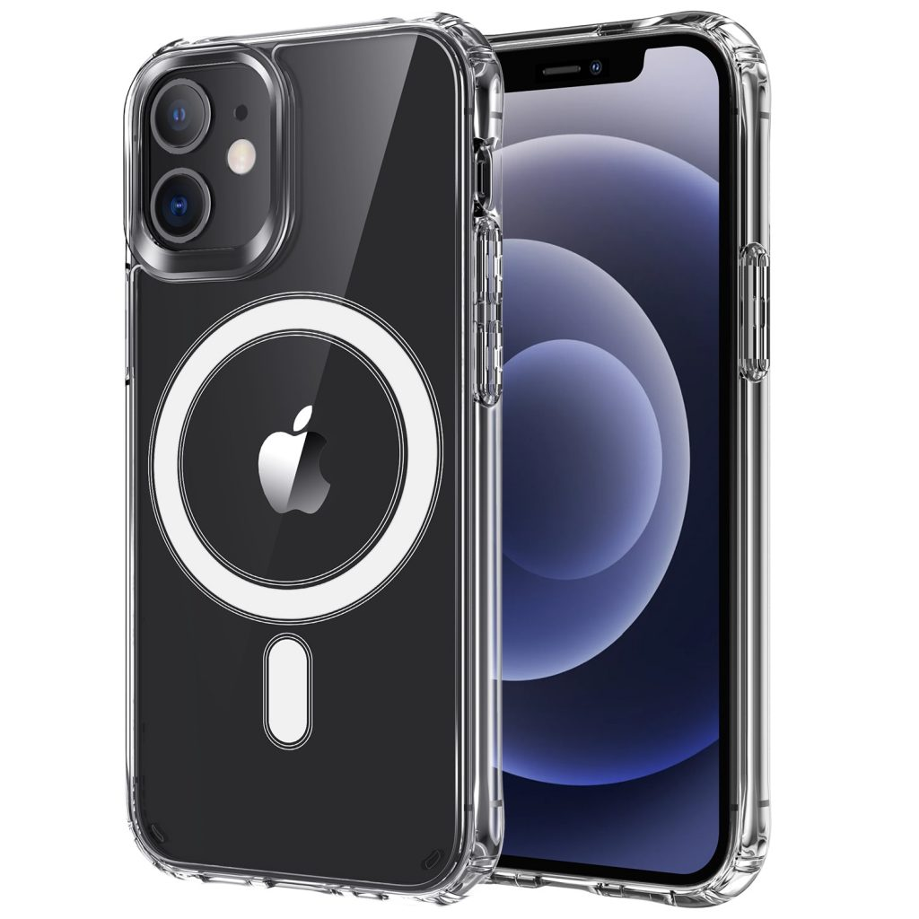 Transparent Case For iPhone 12 Pro Max Magnetic Clear Back Cover Wireless Charger Case Shockproof For iPhone 12 Mini Phone Cases